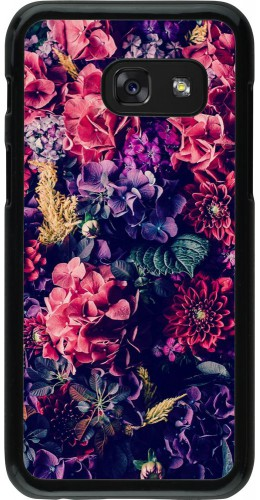 Coque Samsung Galaxy A3 (2017) - Flowers Dark