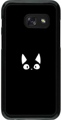 Coque Samsung Galaxy A3 (2017) - Funny cat on black