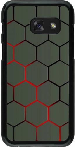 Coque Samsung Galaxy A3 (2017) - Geometric Line red