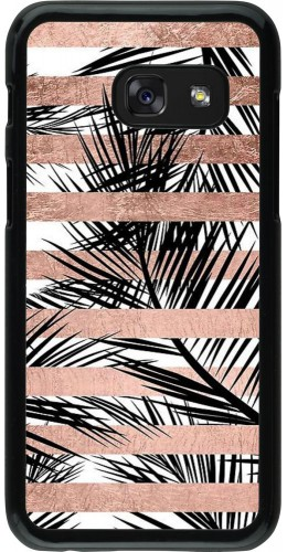 Coque Galaxy A3 (2017) - Palm trees gold stripes