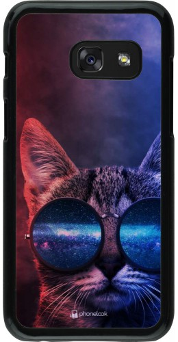 Coque Samsung Galaxy A3 (2017) - Red Blue Cat Glasses