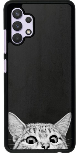 Coque Samsung Galaxy A32 - Cat Looking Up