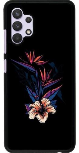 Coque Samsung Galaxy A32 - Dark Flowers