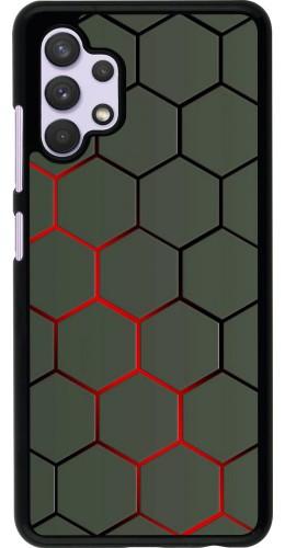 Coque Samsung Galaxy A32 - Geometric Line red