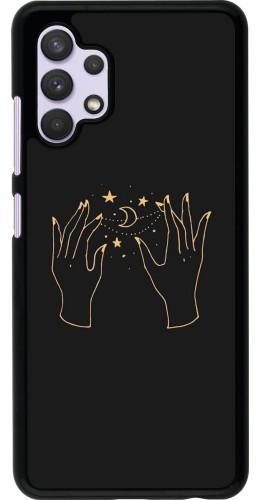 Coque Samsung Galaxy A32 - Grey magic hands