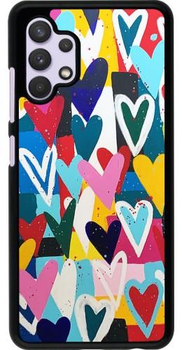 Coque Samsung Galaxy A32 - Joyful Hearts