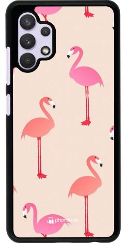 Coque Samsung Galaxy A32 - Pink Flamingos Pattern