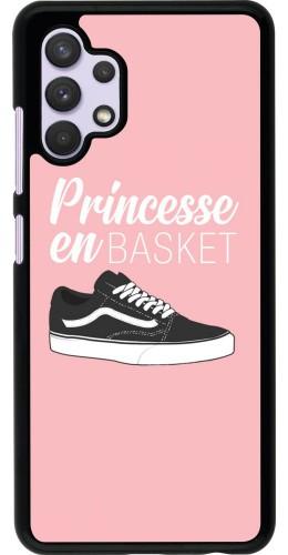 Coque Samsung Galaxy A32 - princesse en basket