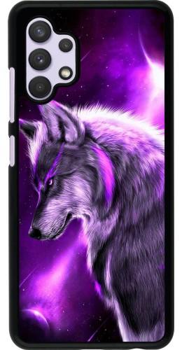 Coque Samsung Galaxy A32 - Purple Sky Wolf