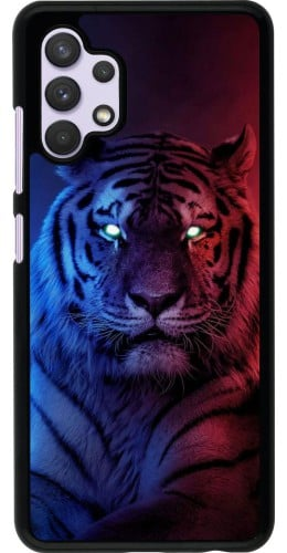 Coque Samsung Galaxy A32 - Tiger Blue Red