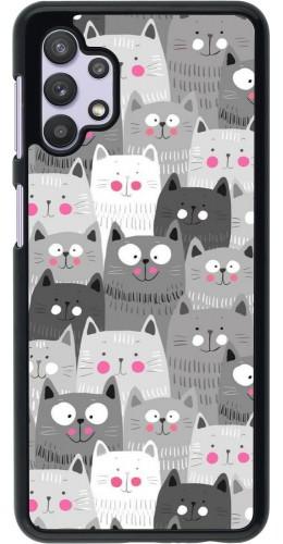 Coque Samsung Galaxy A32 5G - Chats gris troupeau