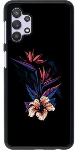 Coque Samsung Galaxy A32 5G - Dark Flowers