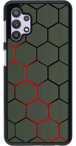 Coque Samsung Galaxy A32 5G - Geometric Line red