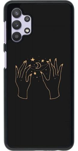 Coque Samsung Galaxy A32 5G - Grey magic hands