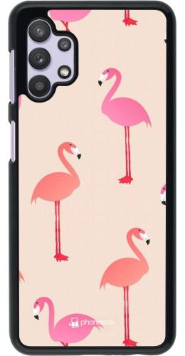 Coque Samsung Galaxy A32 5G - Pink Flamingos Pattern