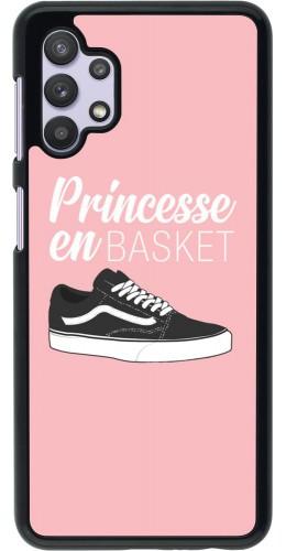 Coque Samsung Galaxy A32 5G - princesse en basket