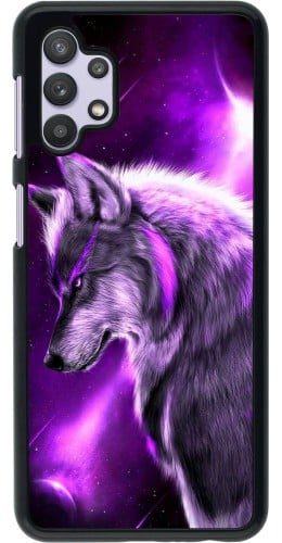 Coque Samsung Galaxy A32 5G - Purple Sky Wolf