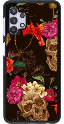 Coque Samsung Galaxy A32 5G - Skulls and flowers