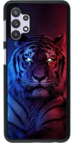 Coque Samsung Galaxy A32 5G - Tiger Blue Red