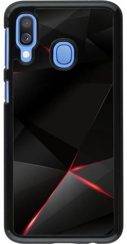 Coque Samsung Galaxy A40 - Black Red Lines