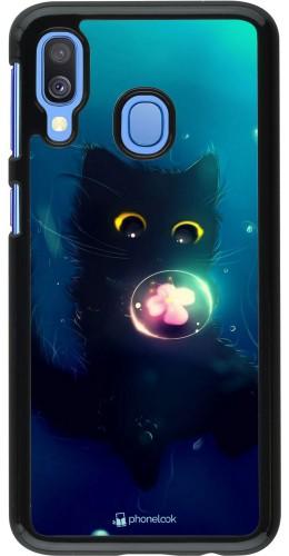 Coque Samsung Galaxy A40 - Cute Cat Bubble