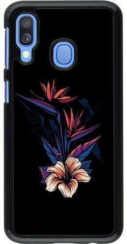 Coque Samsung Galaxy A40 - Dark Flowers