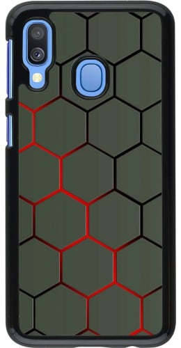 Coque Samsung Galaxy A40 - Geometric Line red