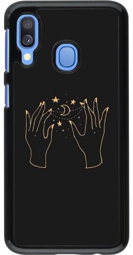 Coque Samsung Galaxy A40 - Grey magic hands