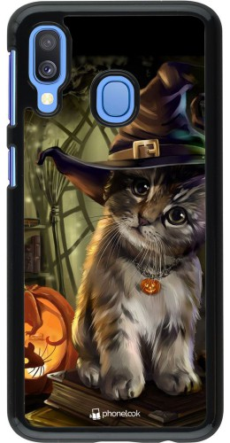 Coque Samsung Galaxy A40 - Halloween 21 Witch cat