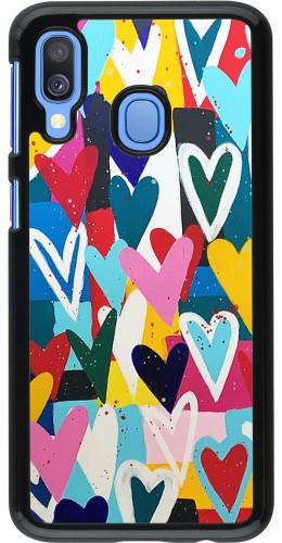 Coque Samsung Galaxy A40 - Joyful Hearts