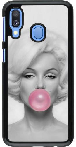 Coque Samsung Galaxy A40 - Marilyn Bubble