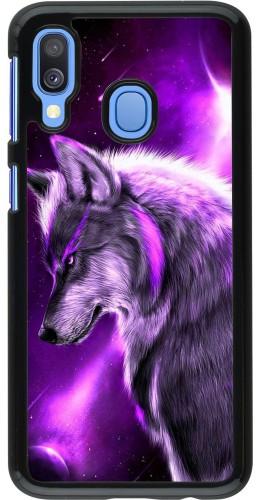 Coque Samsung Galaxy A40 - Purple Sky Wolf
