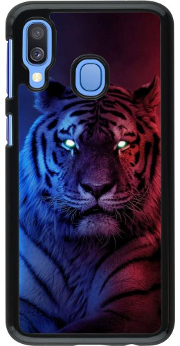 Coque Samsung Galaxy A40 - Tiger Blue Red