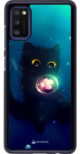 Coque Samsung Galaxy A41 - Cute Cat Bubble