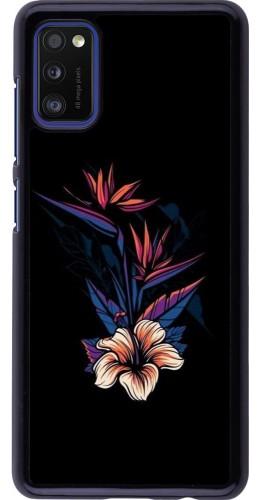 Coque Samsung Galaxy A41 - Dark Flowers