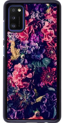 Coque Samsung Galaxy A41 - Flowers Dark