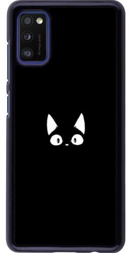 Coque Samsung Galaxy A41 - Funny cat on black