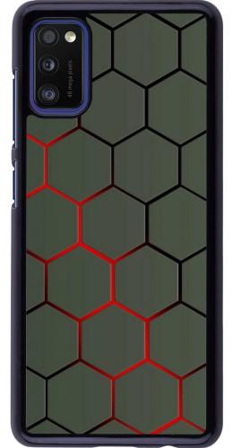 Coque Samsung Galaxy A41 - Geometric Line red
