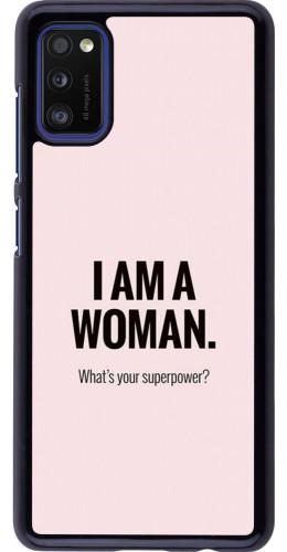 Coque Samsung Galaxy A41 - I am a woman