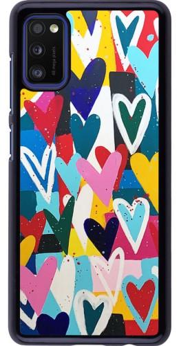 Coque Samsung Galaxy A41 - Joyful Hearts