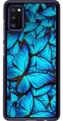 Coque Samsung Galaxy A41 - Papillon bleu