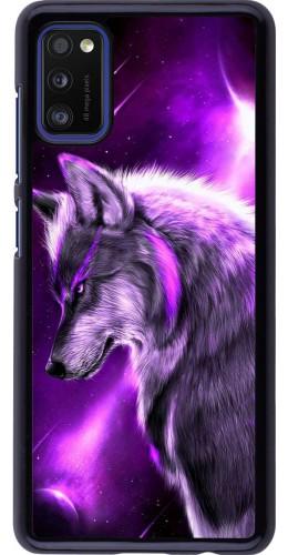 Coque Samsung Galaxy A41 - Purple Sky Wolf