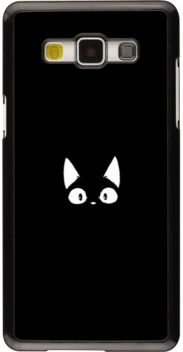 Coque Samsung Galaxy A5 (2015) - Funny cat on black