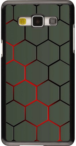 Coque Samsung Galaxy A5 (2015) - Geometric Line red