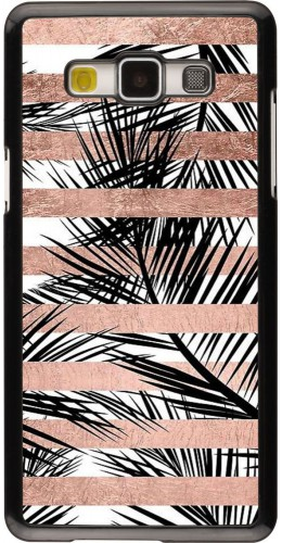 Coque Galaxy A5 (2015) - Palm trees gold stripes
