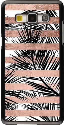 Coque Samsung Galaxy A5 (2015) - Palm trees gold stripes