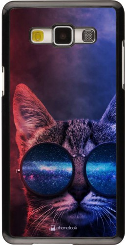 Coque Samsung Galaxy A5 (2015) - Red Blue Cat Glasses