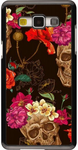 Coque Samsung Galaxy A5 (2015) - Skulls and flowers