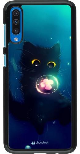 Coque Samsung Galaxy A50 - Cute Cat Bubble