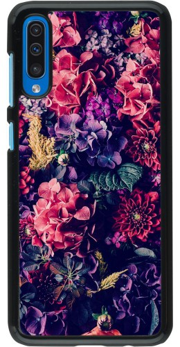Coque Samsung Galaxy A50 - Flowers Dark